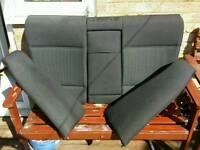 BMW E46 black cloth rear seats (split)