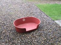 LARGE PLASTIC RED / BROWN COLOUR LARGE SIZE DOG PET BED