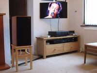 Solid Oak TV/Media/Hifi Stand/Unit with Drawers. Handmade Bespoke