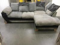 Grey&black comfy L shape sofa •free delivery