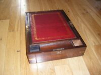 Victorian Rosewood-Veneered Writing-Slope For Further Restoration