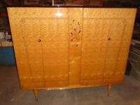 Beautiful French Art Deco Maple Wardrobe In Excellent Condition Delivery Can Be Arranged.