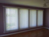 14ft width x 6ft4inch drop Vertical drop blinds with pelmet