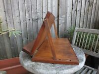 Adjustable Wood Reading Rest / Recipe Cook Book Holder / Stand Free-standing