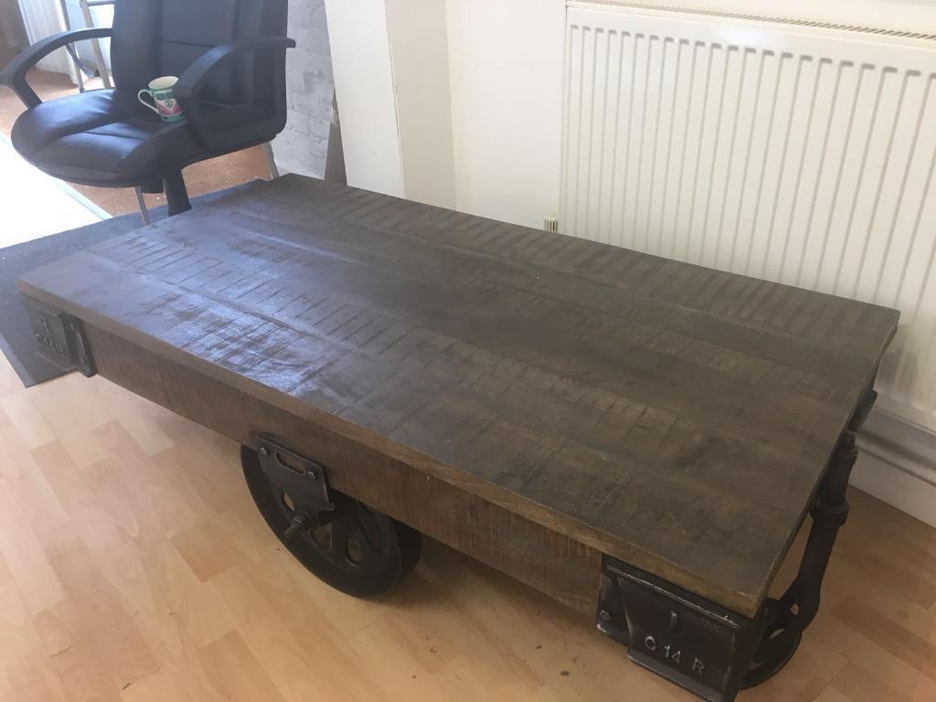 Railway Reclaim Style Wheeled Table