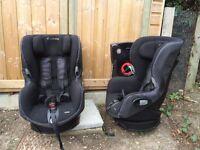 2 Maxi Cosi Axiss, swivel car seats 9months-4yrs