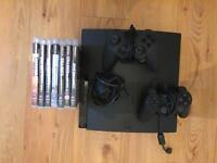 PS3 & 10 Games & 2 Controllers