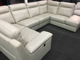 NEW / EX DISPLAY LazyBoy Serento Electric Recliner Corner Sofa + Chaise Storage