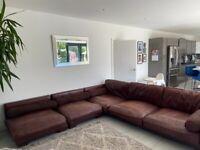 Free corner sofa with matching pouffe