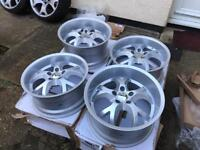 "18"" brand new deep dish alloys staggered 5x112 VW Audi"