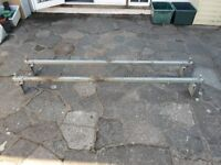 Ford Transit roof bars x 2 saunders heavy duty galvanized steel with load stops - Call 07956 158103