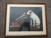His Masters Voice framed picture