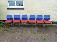 Set Of 6 Stack-able Red and Blue Chairs Delivery Available £20