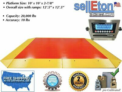 Op-960 Heavy Duty Ultra Low Cargo Pancake Scale With Capacity Of 20000 Lbx10 Lb