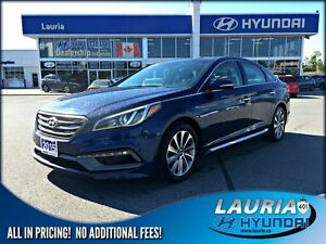 2015 Hyundai Sonata Sport  -  Panoramic sunroof / Blueooth / Bac