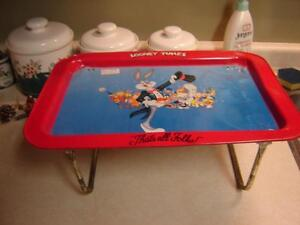 4 ANTIQUE TRAYS WITH METAL LEGS London Ontario image 2