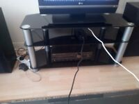 Smoked Glass Triple layer TV stand