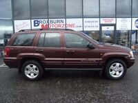 2001 Y JEEP GRAND CHEROKEE 4.7 V8 LIMITED 5d 220 BHP **** GUARANTEED FINANCE ****