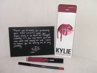 kylie jenner lipgloss and lip pencil
