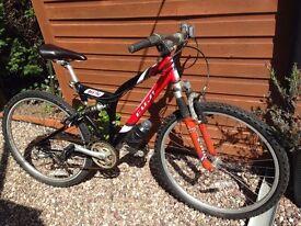 Mountain Bike - Fuji DXS 760 Adult size, 24 gears, 17' frame, front & rear suspension - Macclesfield
