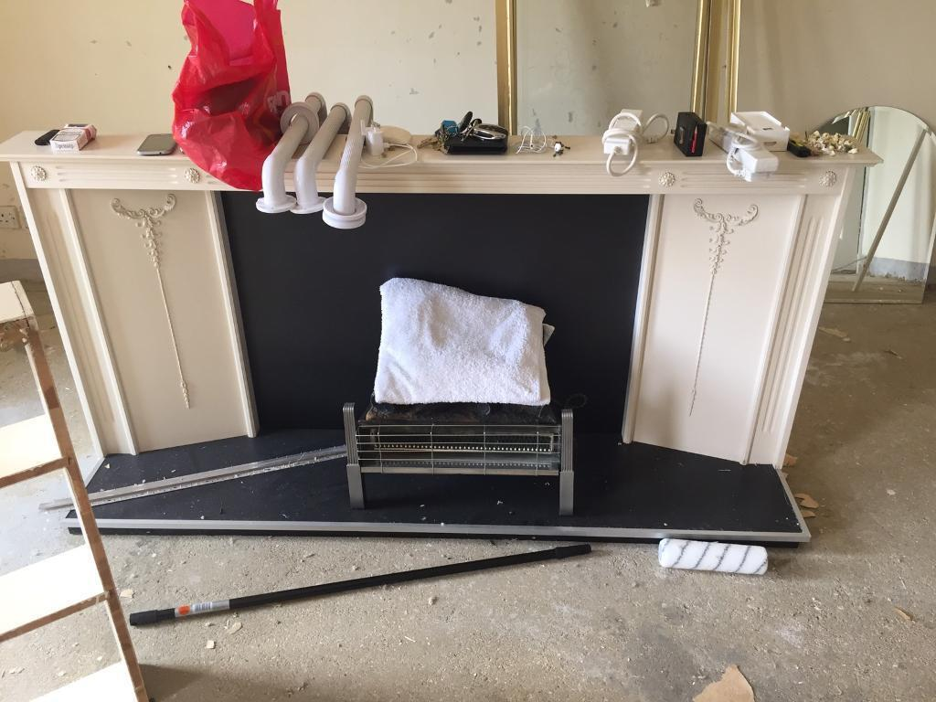 Fire place stand vintage wooden framein Bournemouth, DorsetGumtree - Used, but very good condition. If you need you can collect electric part as well. Please come and have a look