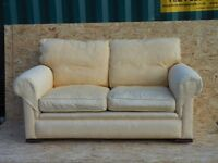 YELLOW JOHN LEWIS TWO-SEATER SOFA