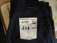Armani Jeans J14 Black linen Classic Large Button Fly