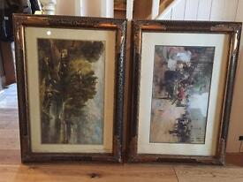 2 x lovely ornate picture frames