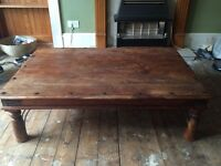 Large dark wood coffee table. Collection only. £70.