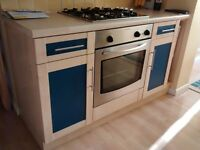 Kitchen cabinets and Built-in Cooker and Hob