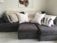 Stunning DFS sofa £495 with matching storage for quick sale.