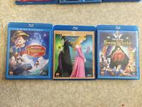 Disney classic (mostly) Bluray/DVD combo packs