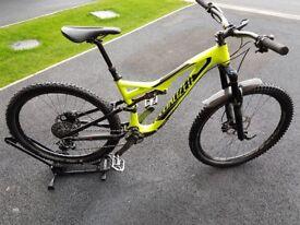 2016 Specialized StumpJumper FSR Expert Carbon Evo 650b/27.5 Mountain Bike