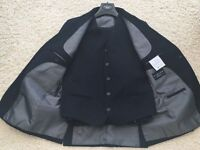 Boy's suit black 3 piece with white shirt aged 10 years