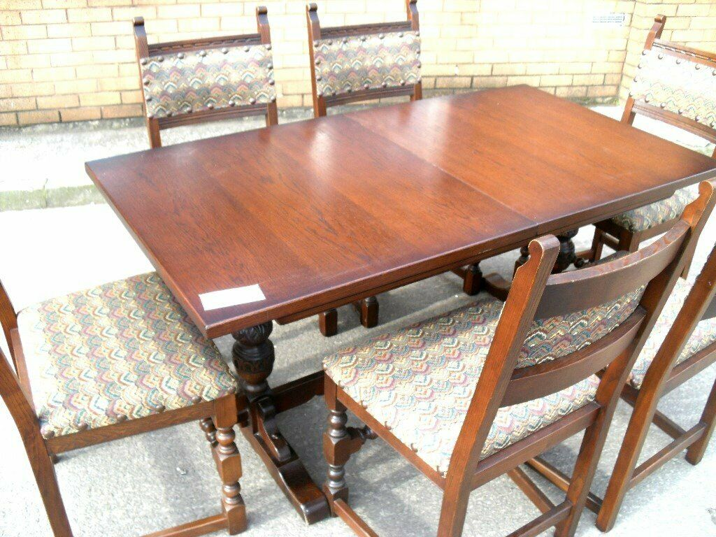 Old Charm Extending Dining Table 6 Chairs Cottage Style Vgc Wh 6528