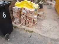 Free bricks. 80 plus clean bricks, ideal for a shed base.