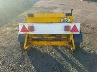Towable salt spreader or can be used on compact tractor three point linkage