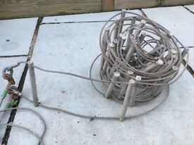 Rope course / Lyon Caving ladder or fire escape, steel wire, aluminium rungs, about 24ft (RRP £145)