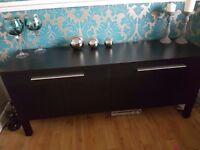 Ikea black sideboard