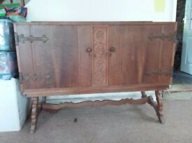 Vintage sideboard, rustic farmhouse style