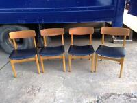 VINTAGE RETRO DINING CHAIRS SET OF FOUR