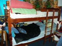 Solid Dark wooden bunkbeds