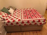 Good quality double bed and mattress