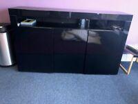Black High Gloss Storage Unit