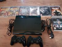 Ps3 with games leads and controllers