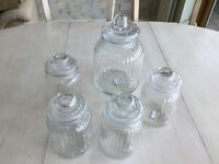 Selection of Glass Sweet/Storage Jars ideal for Wedding
