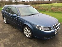 2007 Saab 9-5 1.9TiD Linear Sport Estate 150BHP FSSH, 1 owner 1yrs Mot 6mth warranty
