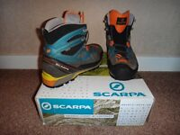 Scarpa Rebel Lite GTX Gore-Tex Hiking Mountaineering Boots Mens UK Size 9.5 Crampon Compatible