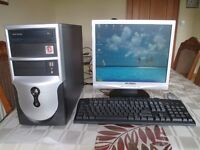 "Computer, flat 17"" screen monitor, Canon 4 in 1 colour printer, keyboard & mouse"