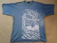 Quicksilver t-shirt, light blue, size large